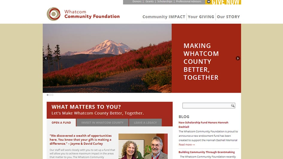 website-design-for-whatcom-community-foundation